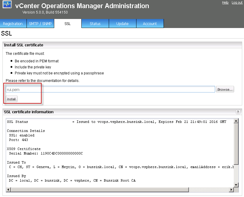 Generating SSL Certificates for vCenter Operations Manager 5.0