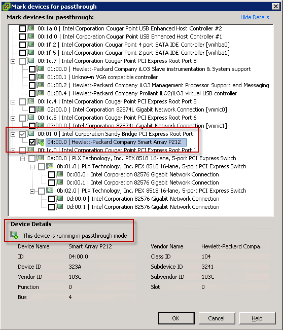 HP ML110 G7 and VT-d DirectPath I/O Configuration and VMware FT