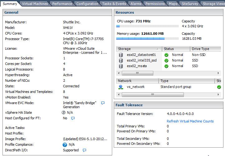 ESXi 5.1 on XH61V