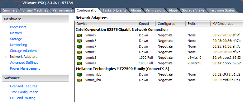 ESXi Network Adapter ConnectX3