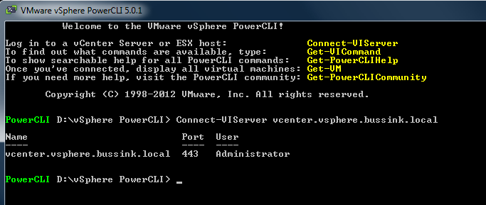 Sign on single connect-viserver powershell
