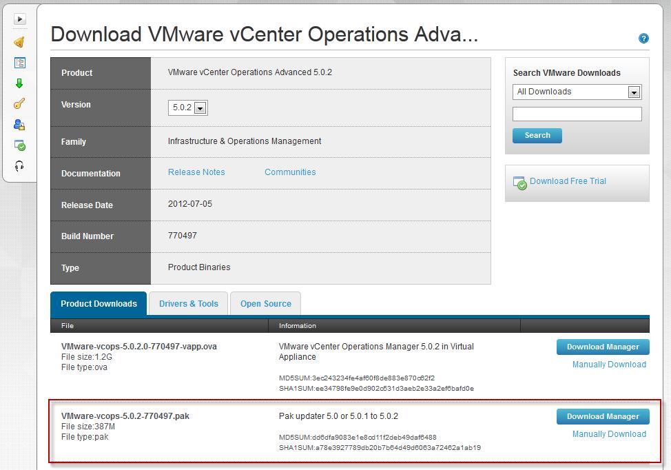 vCenter Operations Manager 5 0 2 PAK download   Erik Bussink