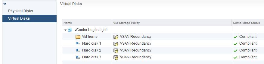 VSAN Virtual Disks