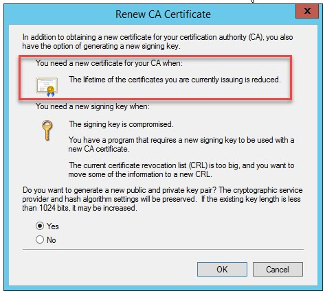 Issuing CA Renewal operation | Erik Bussink